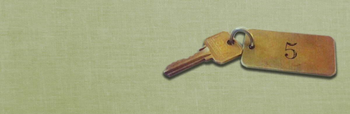 Privacy policies - photo of room key.